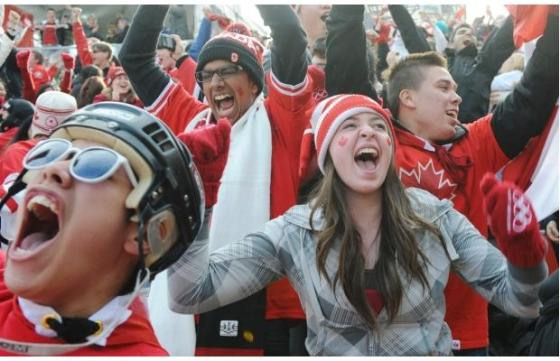 I was a little most excited about becoming immigrant than these people were about Canada winning gold at hockey in the Vancouver Olympics.